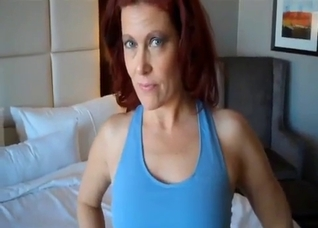 Sporty redhead mom asked me to fuck her twat