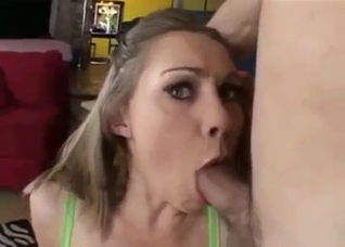 Throat-fucking my horny sister with pleasure