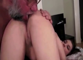 Dirty old man seduced his slender granddaughter