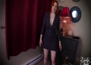 Leggy redhead sister nicely jumps on my boner