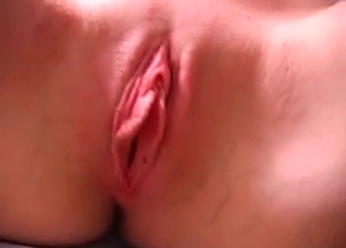 Pigtailed young blonde is sucking her daddy's dick
